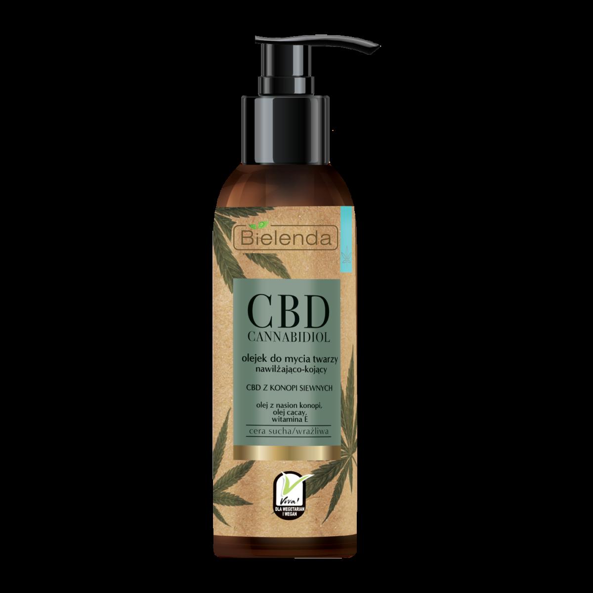 CBD Cannabidiol Olejek do mycia twarzy z CBD z konopi siewnych – c.sucha, wrażliwa 140 ml